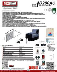 Cátalogo Abrepuertas de ID200-220V.pdf, Puertas y Portones Automaticos S.A. de C.V.