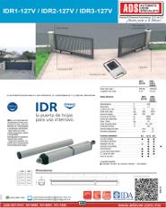 Cátalogo IDR1-IDR2-IDR3-127V.pdf, IDR1-IDR2-IDR3-127V.pdf, Catalogo IDR1-IDR2-IDR3-127V, ADS, ADS ALLMATIC, Puertas y Portones Automaticos S.A. de C.V.