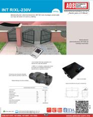 INTRXL-220V.pdf, PLUS-24V_C-127V_L-127V.pdf, Catalogo INTRXL-220V, ADS, ADS ALLMATIC, Puertas y Portones Automaticos S.A. de C.V.