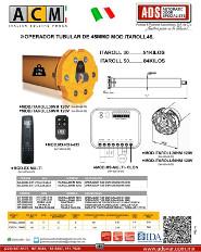ACM, Operador Tubular de 45MMØ,Con Finales de Carrera Mecanico, Alimentación 110V/60HZ ITAROLL45, ADS Puertas & Portones Automaticos S.A. de C.V.