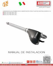 V2 Manual de Instalacion Calypso 400 120V y Calypso-500 120V.pdf, ADS Puertas y Portones Automaticos S.A. de C.V.