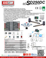 Cátalogo Abrepuertas de Garage AB400-24V, Puertas y Portones Automaticos S.A. de C.V.