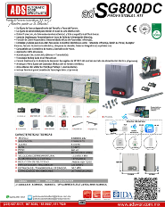 Cátalogo Abrepuertas de Garage AB600-110V, Puertas y Portones Automaticos S.A. de C.V.