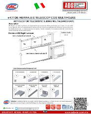 Manual Tecnico de Instalacion Kit de Herrajes Telescopico Multihojas, ADS Puertas & Portones Automaticos S.A. de C.V.