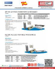 Catalogo Kit de Acceso Corredizo & Abatible, ADS Puertas y Portones Automaticos
