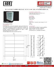 Doorlock Louver de Aluminio Marco 4', Aleta Fija 45°, Malla Pajarera MOD.L4D