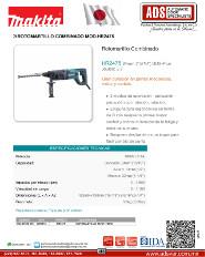 Makita, Rotomartillo Combinado MOD.HR2475,ADS Puertas & Portones Automaticos S.A. de C.V.