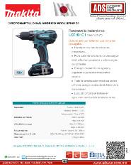 Makita, Rotomartillo Inalambrico MOD.LXPH01C1, ADS Puertas & Portones Automaticos S.A. de C.V.