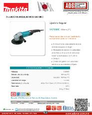 Makita, Catalogo, Lijadora Angular MOD.SA7000C