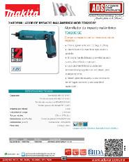 Makita, Atornillador de Impacto Inaámbrico MOD.TD020DSE, Puertas y Portones Automaticos S.A. de C.V.