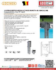 Cierrapuertas Hidraulico y Bisagra Integrado MOD.MAMMOTH 180