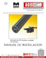 Manual de Instalacion, Manual de Instalacion Banda Electrica de Seguridad MILLER EDGE MOD.CPT-210, Puertas y Portones Automaticos S.A. de C.V.