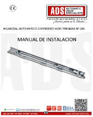 Cabezal Automatico Corredizo MOD.PREMIUM SP-280, Puertas y Portones Automaticos S.A. de C.V.