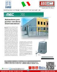 Fadini, Operador Electromecanico Corredizo MOD.MEC 200