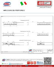 Medidas Portones.pdf, ADS Puertas & Portones Automaticos S.A. de C.V.