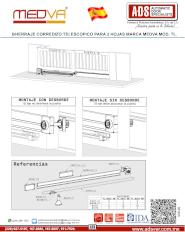 MEDVA, Amortiguador Lineal MOD.3095, ADS Puertas & Portones Automaticos S.A. de C.V.