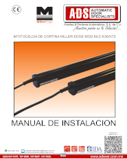 Manual de Instalacion, Manual de Instalacion Manual de Instalacion Fotocelda de Cortina MILLER EDGE MOD.MLC-K36/K72, Puertas y Portones Automaticos S.A. de C.V.