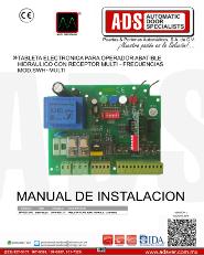 Tableta Electronica para Operador Abatible Hidraulico con Receptor MultiFrecuencias MOD.SWH-MULTI