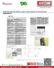 Manual Rayflex Puerta Rapida Enrollable para Areas de Proceso MOD.RP311