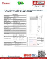 Manual Rayflex Puerta Rapida Plegable Para Grandes Dimensiones Interior & Exterior MOD.VECTORFLEX, ADS Puertas & Portones Automaticos S.A. de C.V.