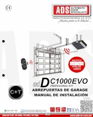 Manual de Instalacion, Manual de Instalacion Abrepuertas de Garage DC1000EVO, Puertas y Portones Automaticos S.A. de C.V.
