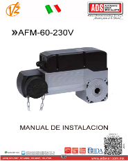 V2 Manual de Instalacion AFM 60 230VV.pdf, ADS Puertas y Portones Automaticos S.A. de C.V.