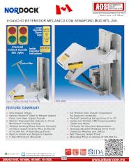Nordock, Gancho de Anden Mecanico MOD.MTL-200, Puertas y Portones Automaticos S.A. de C.V.