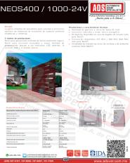 Abrepuertas Corredizo DITEC NEOS400-1000-24V, ADS Puertas y Portones Automaticos S.A. de C.V.