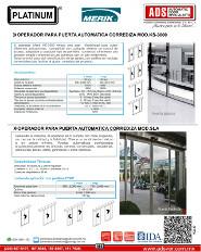 Operador para Puerta Automatica Corrediza MOD.KS-3000-MOD.SLK, Puertas y Portones Automaticos S.A. de C.V.