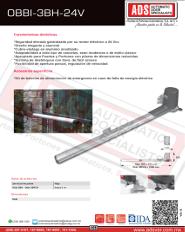 Abrepuertas de Abatible Hidraulico DITEC OBBI-3BH-24V, ADS Puertas y Portones Automaticos S.A. de C.V.