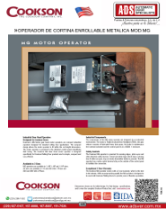 Cookson Operador de Cortina Enrollable Metalica MOD:MG, Puertas y Portones Automaticos S.A. de C.V.
