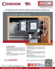Cookson Operador de Cortina Enrollable Metalico MOD.SG, Puertas y Portones Automaticos S.A. de C.V.