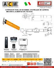 ACM, Operador Tubular Enrollable MATIC92M, ADS Puertas & Portones Automaticos S.A. de C.V.