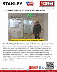 Catalogo Stanley Puerta Automatica Corrediza Serie All Glass