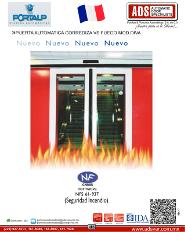 PORTALP, Puerta Automatica Correzida Vs Fuego MOD.DIVA, ADS Puertas & Portones Automaticos S.A. de C.V.