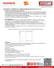 ADS Roper PUERTA CORREDIZA CORTAFUEGO MOD.CIR 120 1H, ADS Puertas & Portones Automaticos S.A. de C.V.