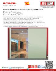 ADS Roper PUERTA CORREDIZA CORTAFUEGO MOD.KORES, ADS Puertas & Portones Automaticos S.A. de C.V.