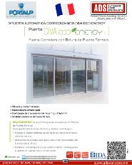 PORTALP, PUERTA AUTOMATICA CORREDIZA MOD.DIVA ECO ENERGY, ADS Puertas & Portones Automaticos S.A. de C.V.