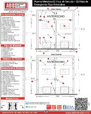 Allegion Puerta Metalica (1) Hoja de Servicio + (1) Hoja de Emergencia Tipo Holandesa.