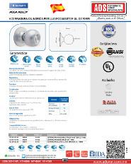 Catalogo Perilla Mecanismo Cilindrico MOD.MASTER, ADS Puertas y Portones Automaticos