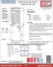 Doorlock Puerta Metálica ref. Rayos X lamina de Plomo 3.3mm