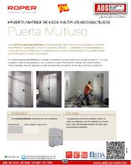ADS Roper Puerta Abatible de Usos Multiples MOD.MULTIUSOS, ADS Puertas & Portones Automaticos S.A. de C.V.