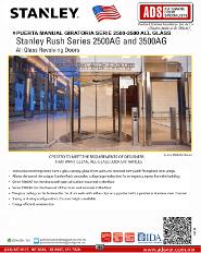 Catalogo Stanley Puerta Manual Giratoria Serie 2500-3500 ALL GLASS