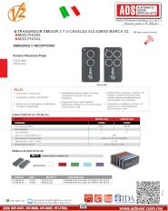ADS Cátalogos V2, ADS V2 Receptor Phox2-433 y Phox4-433, PHOX.pdf,Puertas y Portones Automaticos S.A. de C.V.