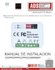 Receptor MultiFrecuencias 3 Canales MOD.RX-MULTICODE