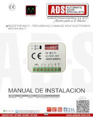 Receptor MultiFrecuencias 2 Canales MOD.RX-MULTI, ADS Puertas & Portones Automaticos S.A. de C.V.