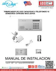 MARCADOR DE VOZ CAPACIDAD 9 TELEFONOS 16 SENSORES GATEWAY MOD.AD105, ADS Puertas & Portones Automaticos S.A. de C.V.