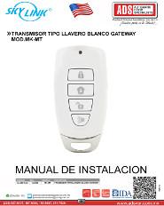 TRANSMISOR TIPO LLAVERO BLANCO GATEWAY MOD.MK-MT, ADS Puertas & Portones Automaticos S.A. de C.V.