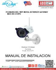Catalogo CAMARA DIG. WIFI MOVIL EXTERIOR GATEWAY MOD.WC-510PH, ADS Puertas & Portones Automaticos S.A. de C.V.