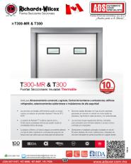 Richards-Wilcox Portón Insulado 3 MOD.T300